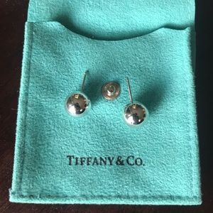 Tiffany's sterling silver ball earrings